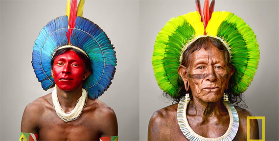 national geographic warrior kayapo martin schoeller
