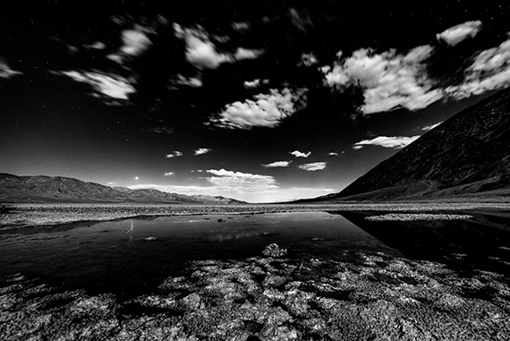 black and white moonlight photography