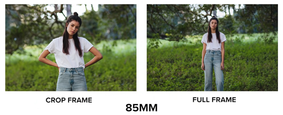85mm apsc vs full frame