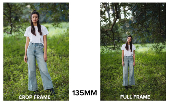 135mm apsc vs full frame