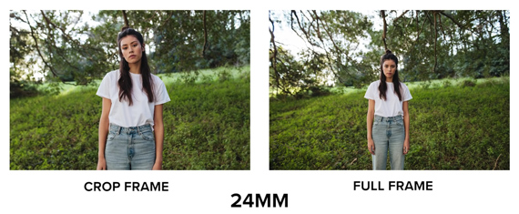 24mm apsc vs full frame